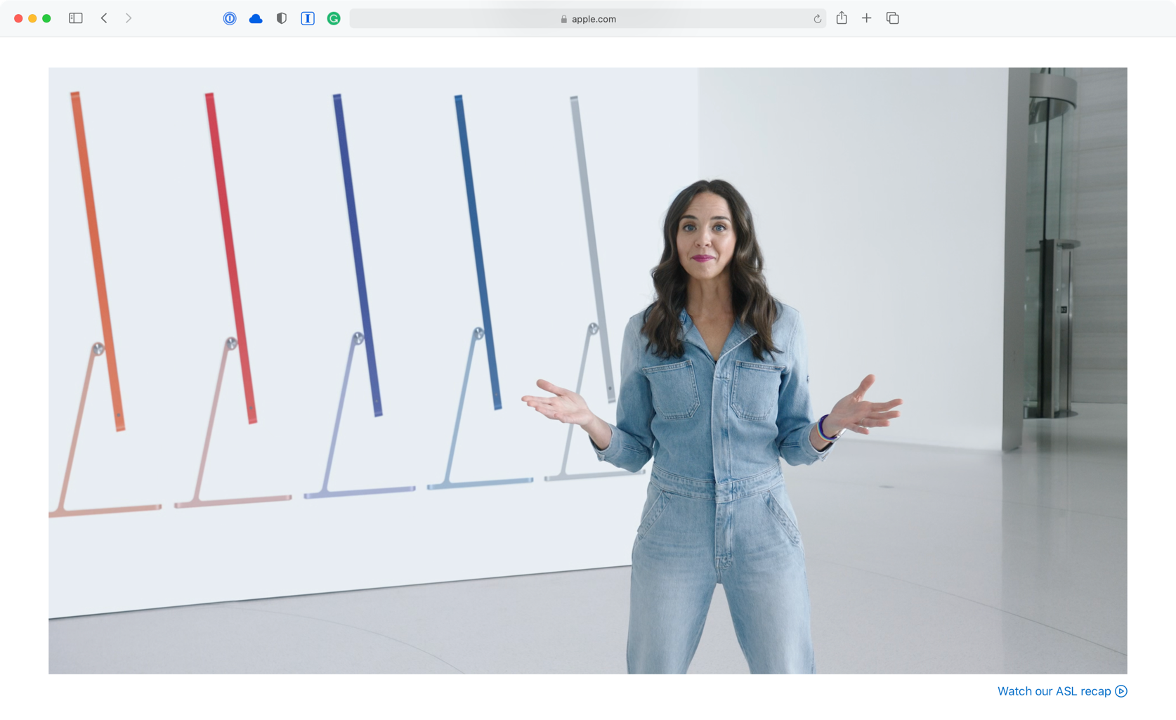 Apple iMac Hero Shot in Event Video
