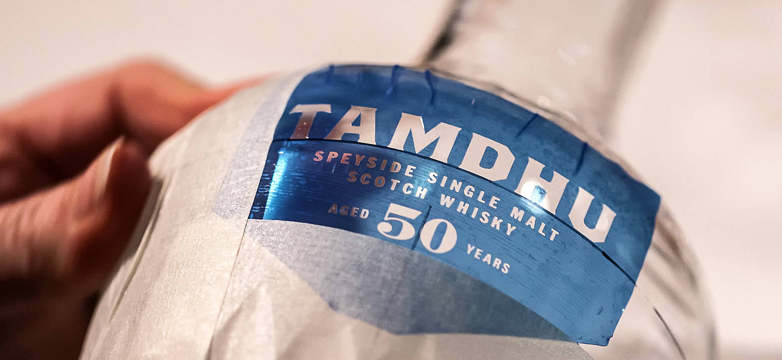 Tamdhu 50 Dartington Crystal logo cut