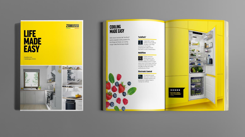 Catalogue spread examples