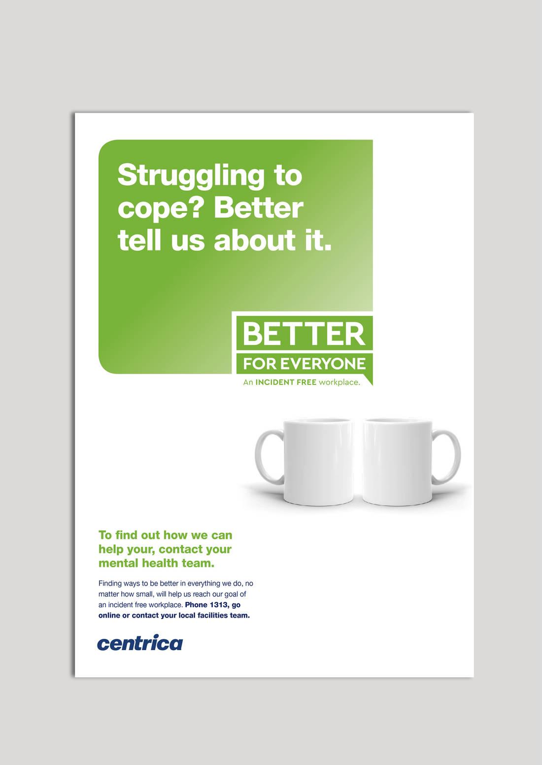 Centrica green poster treatment
