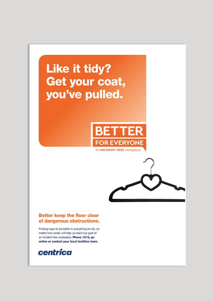 Centrica orange poster concept