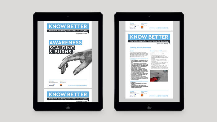 Centrica brand guidelines on iPads