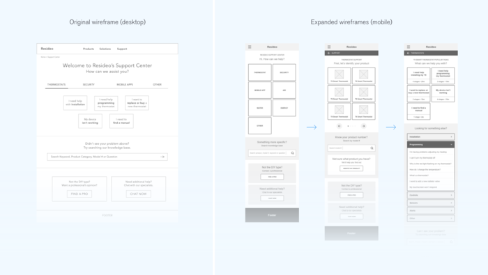 Resideo Wireframe